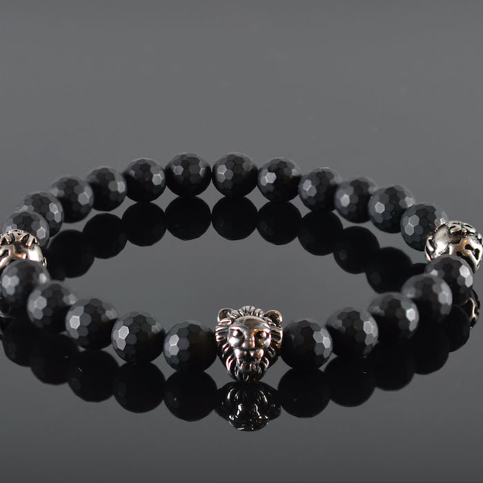 Leeuwenkop Armband heren Rene-1