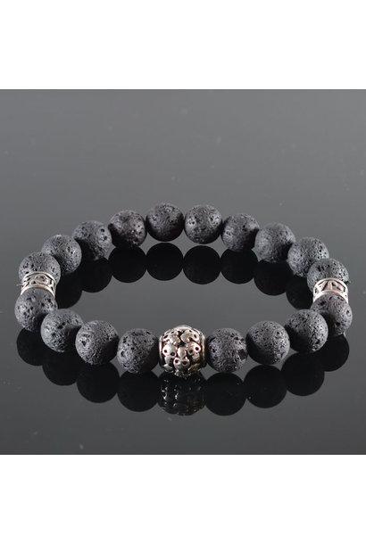 Men's Skull Bracelet  Black Power