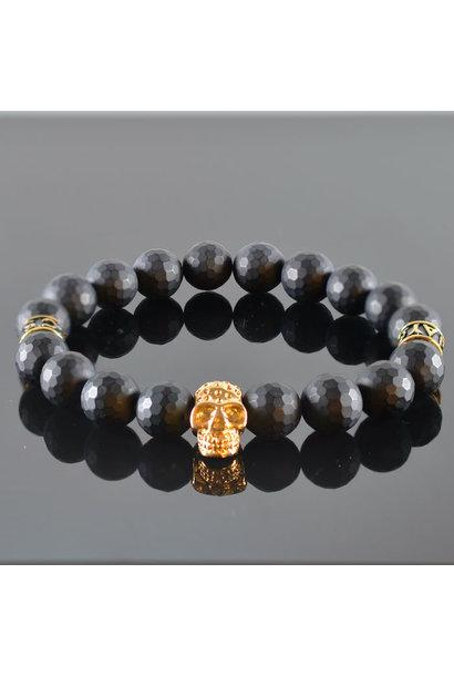 Men's Bracelet Black Invite Skull III
