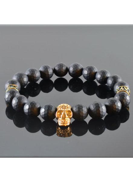 JayC's Heren armband Black Invite Skull III