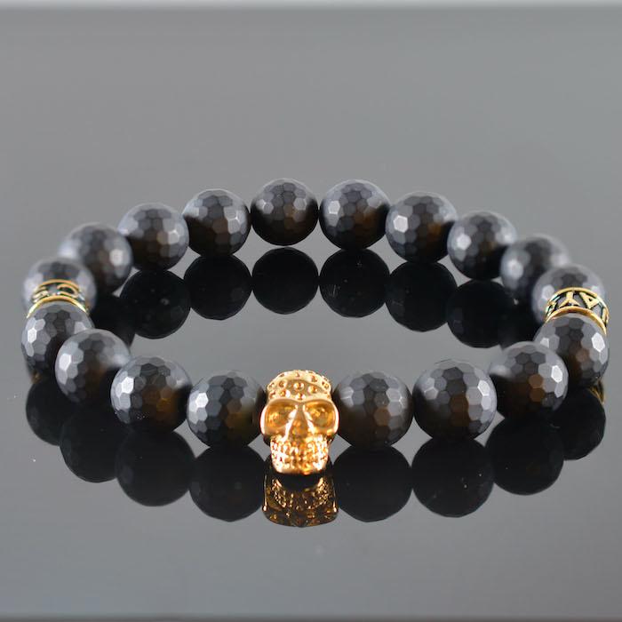 Armband heren Skull Black Invite III-1