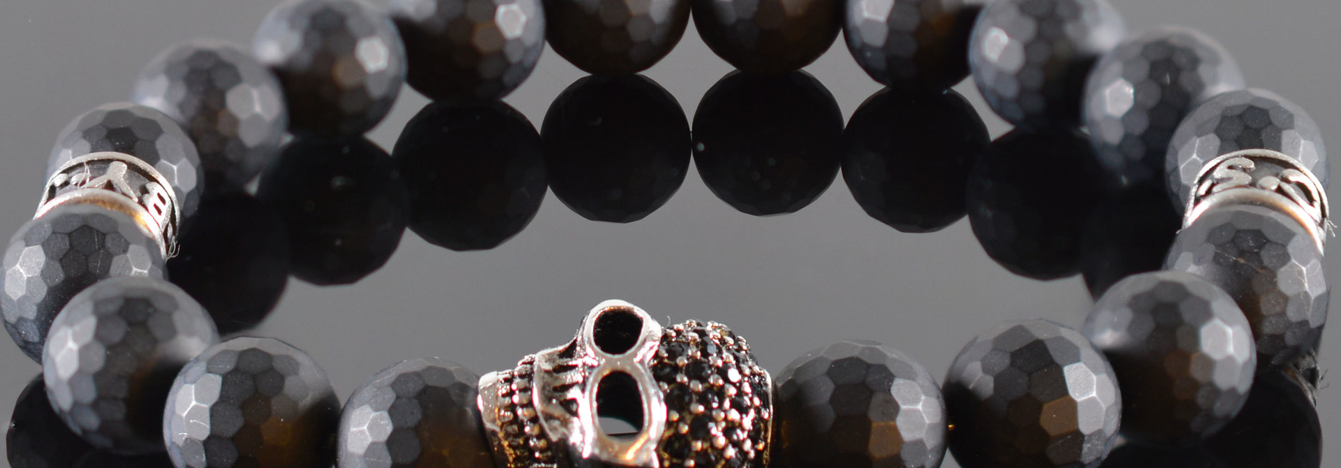 Skull Armband heren Dark Mind
