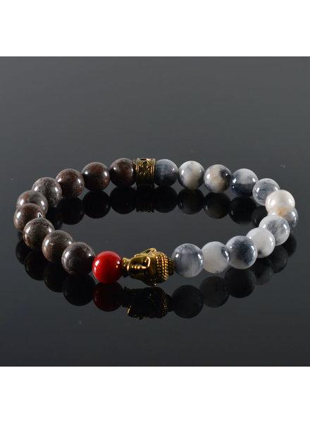 JayC's Armband Unisex Goa Buddha