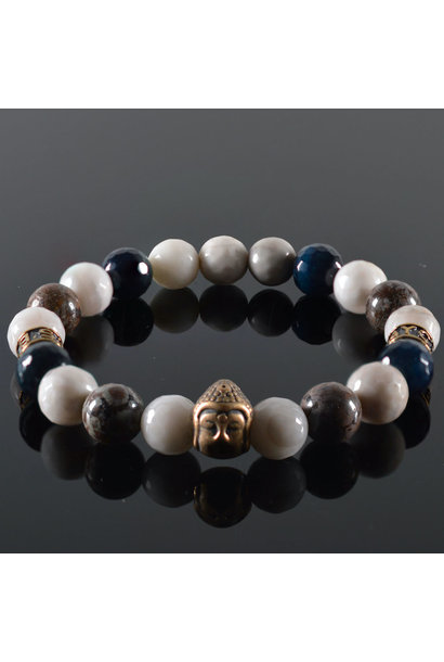 Heren armband White Air Buddha