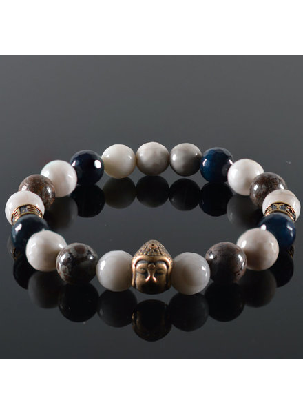 JayC's Men's bracelet White Air Buddha