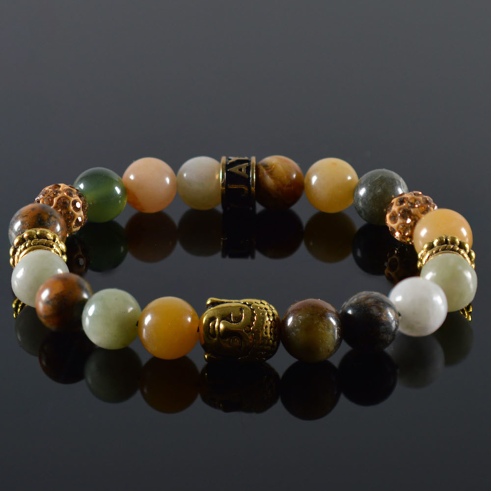 JayC's Dames armband Make a Wish Buddha