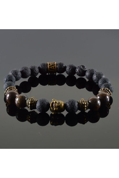 Dames armband Douvle Buddha