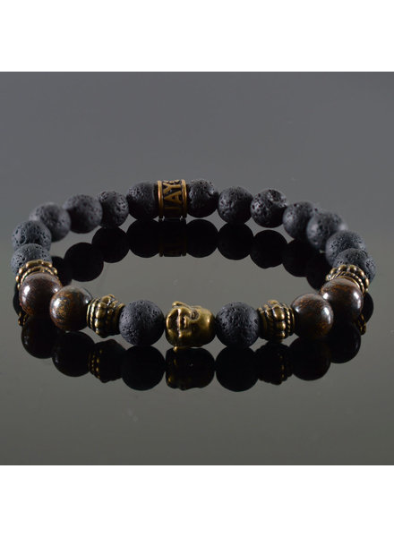 JayC's Dames armband Douvle Buddha