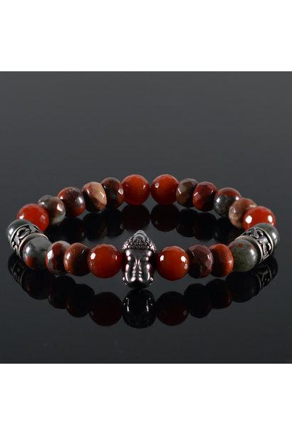 Unisex armband Red Buddha