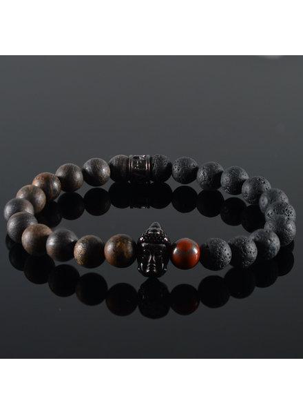 JayC's Herren Armband Hadian Buddha