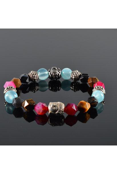 Buddha Damen-Armband Flower