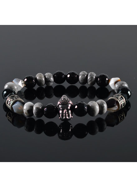 JayC's Men's Bracelet  Bianco Buddha