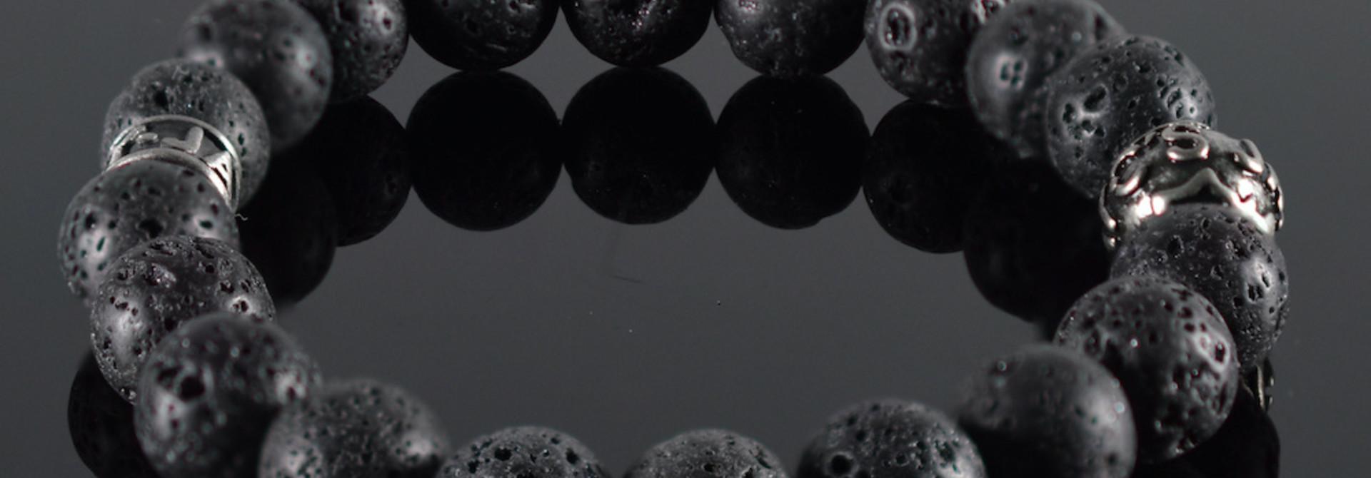 Armband heren Lava Noire II