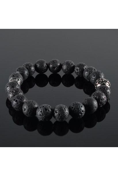 Herren  Armband Lava Noire II