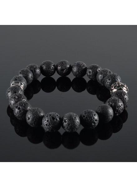 JayC's Men's bracelet  Lava Noire II