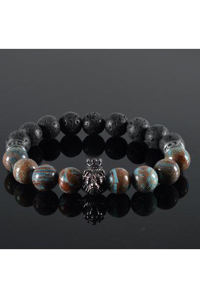 Men's bracelet Blue Blood Lionhead
