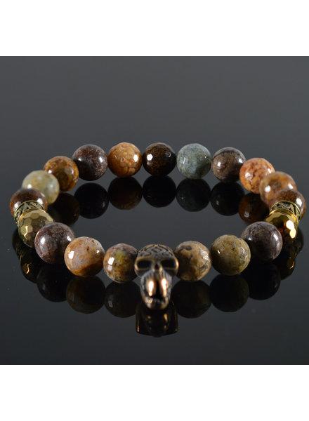 JayC's Men's Skull bracelet Maroon 5