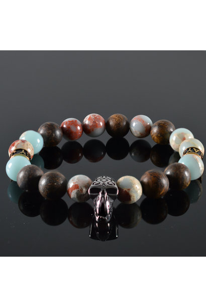 Heren Skull armband Bailey