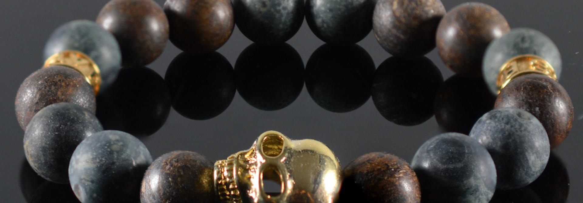 Armband heren Kael Skull