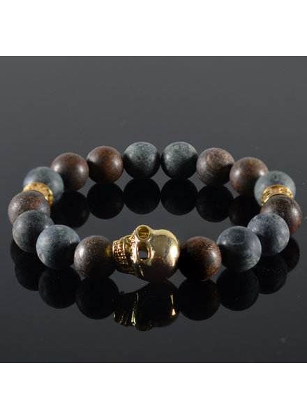 JayC's Men's bracelet Kael Skull