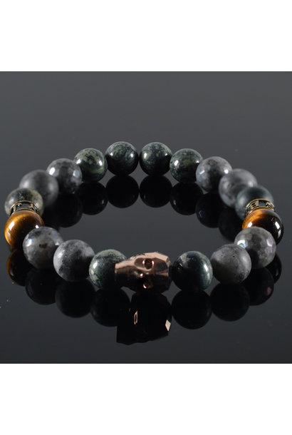 Men's bracelet  Swarosvki Skull Rose gold Burbell
