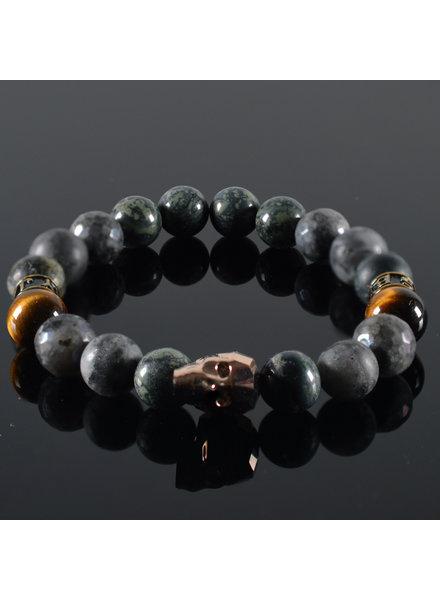 JayC's Men's bracelet  Swarosvki Skull Rose gold Burbell