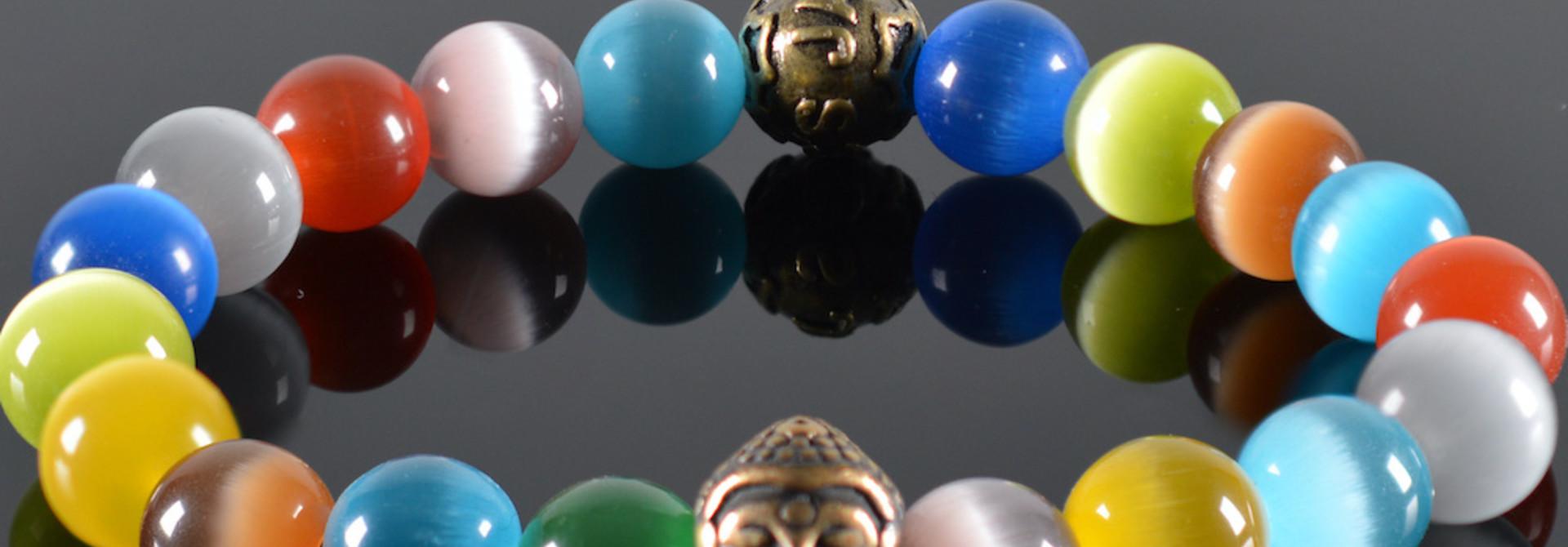 Heren armband Rainbow Buddha