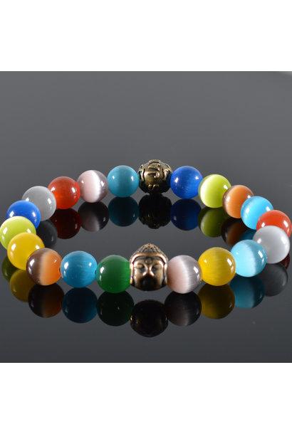 Herren Armband Rainbow Buddha
