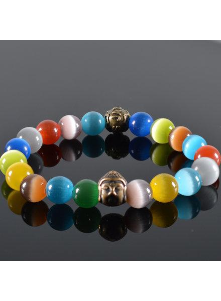 JayC's Men's bracelet Rainbow Buddha