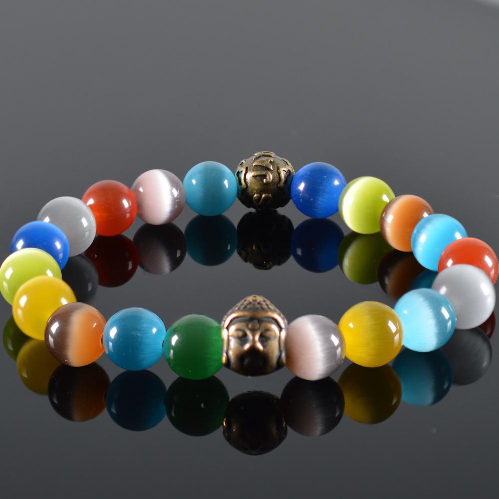 JayC's Heren armband Rainbow Buddha