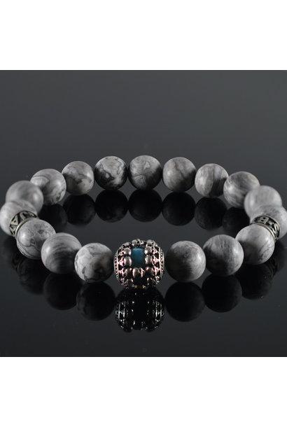 Men's Bracelet  Blue Sky Skull