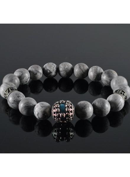 JayC's Men's Bracelet  Blue Sky Skull