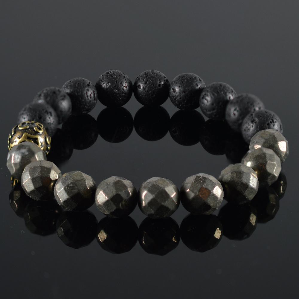 JayC's Bracelet men Hematite Lava