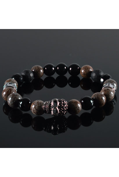 Men's bracelet Burgundy II Skull