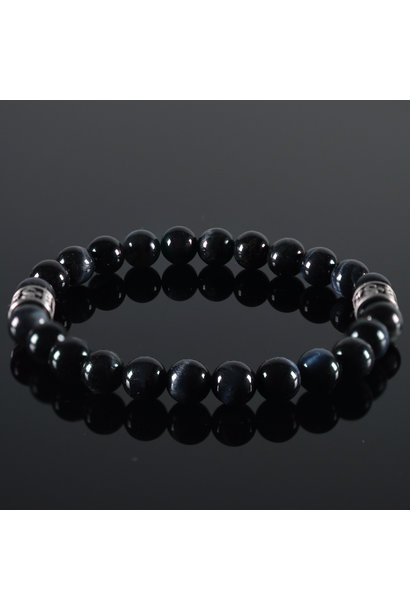 Men's bracelet Tiger-Eye darkblue