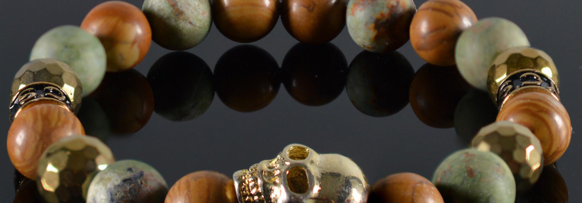 Armband heren Gyan Skull