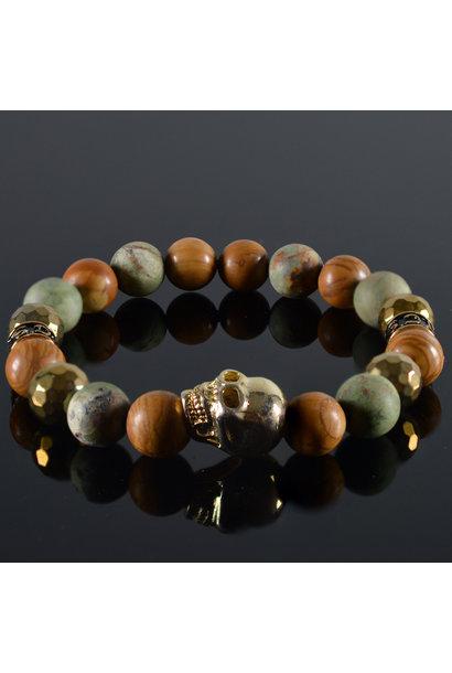 Men's bracelet Gyan Skull