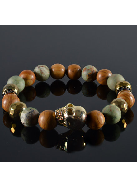 JayC's Men's bracelet Gyan Skull