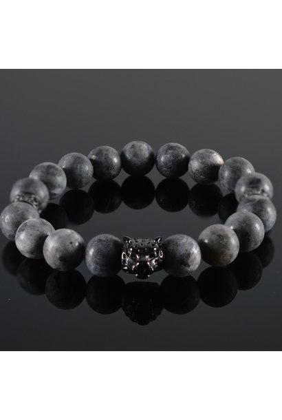 Men  Bracelet Grey Panther