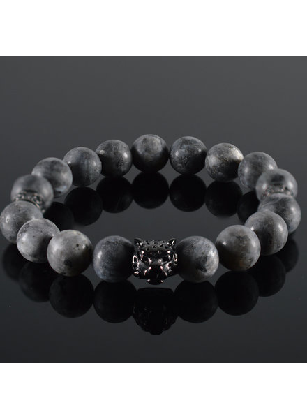 JayC's Men  Bracelet Grey Panther
