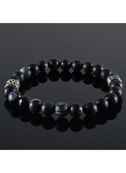 JayC's Men's bracelet Black Mix