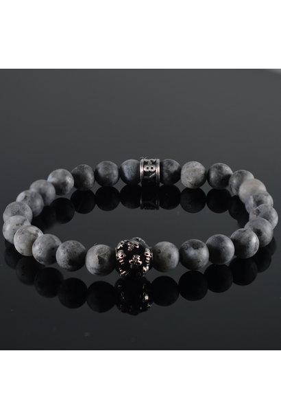 Men's bracelet  Grey Skull