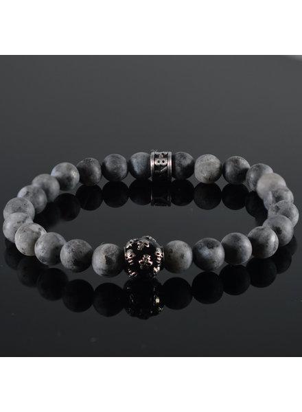 JayC's Men's bracelet  Grey Skull
