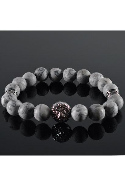 Men's bracelet Grey Lion Head
