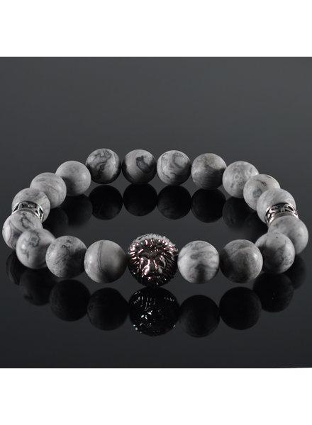 JayC's Men's bracelet Grey Lion Head