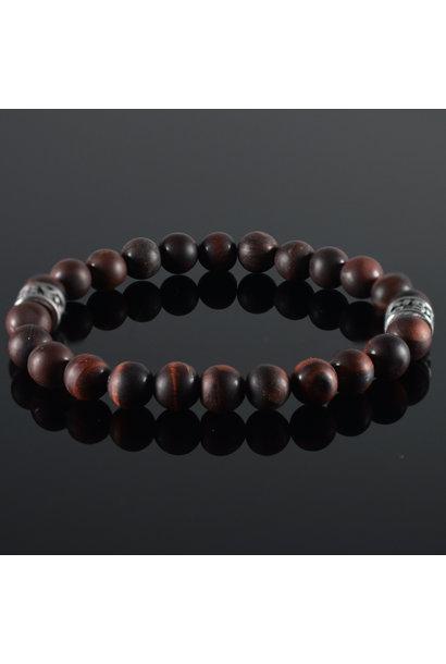 Men's bracelet Tiger-Eye darkred
