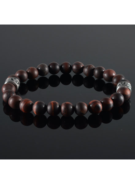 JayC's Heren armband Tiger-Eye darkred