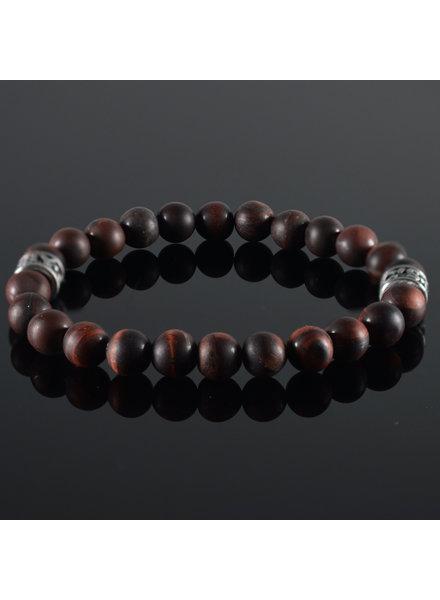 JayC's Men's bracelet Tiger-Eye darkred