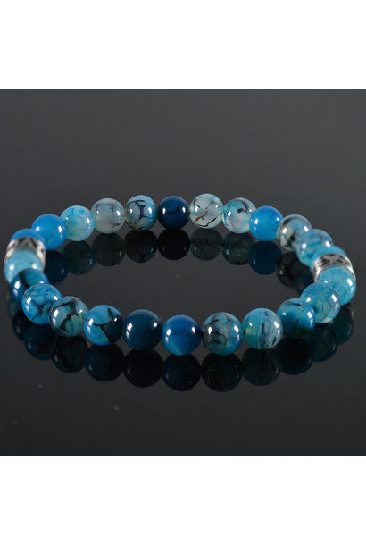 Heren armband Clear Blue