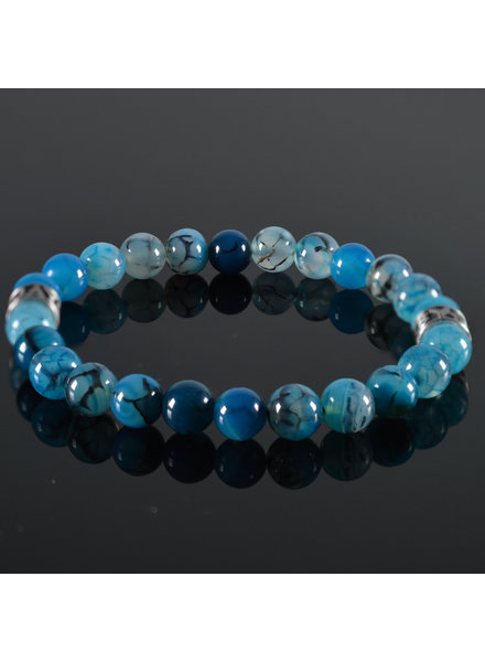 JayC's Heren armband Clear Blue